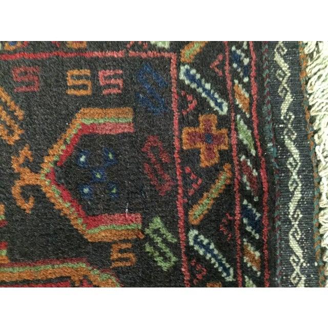 Vintage Balluchi Persian Rug - 1'8 x 1'11 - Image 7 of 10