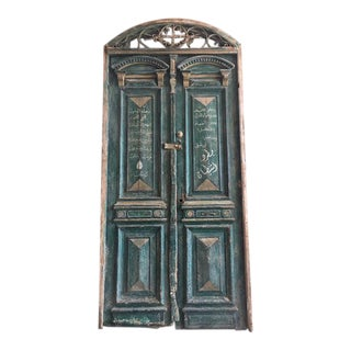 Antique Green Egyptian Double Doors