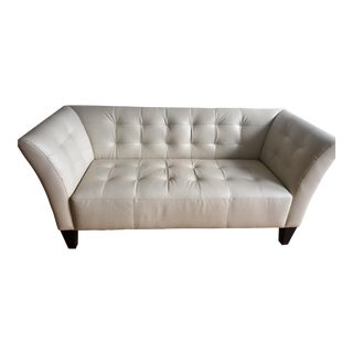 Modern White Leather Sofa