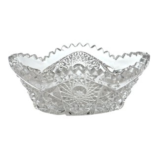 Early American Oval Sawtooth Bowl