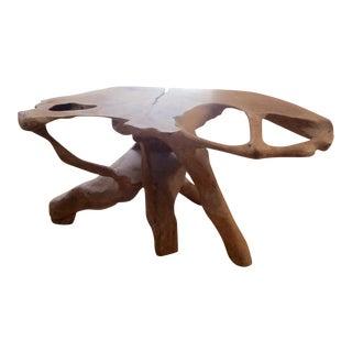 Modern Teak Wood Live Edge Table