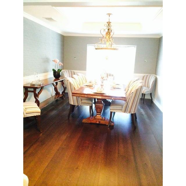 velvet stripe custom dining room chair chairish