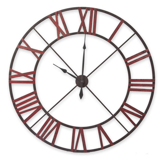 Large Metal Wall Clock - Image 1 of 5