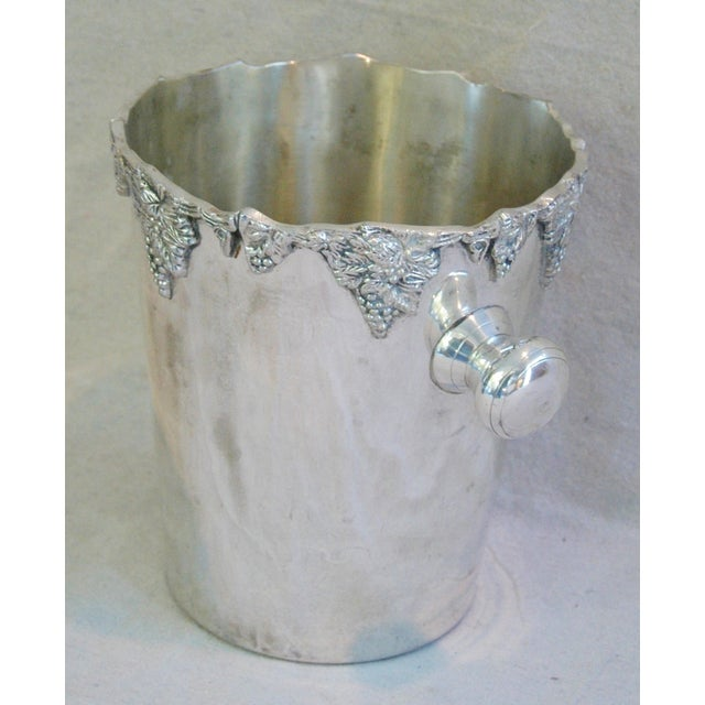 Silver-Plate Champagne Bucket with Grape Motif - Image 3 of 7