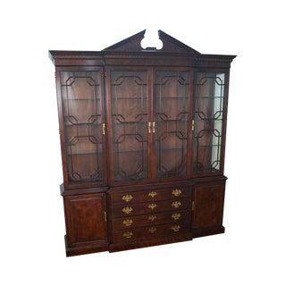 Henredon Chippendale Style Breakfront Cabinet