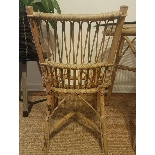 Vintage Franco Albini Rattan Table & Chairs - Image 9 of 11