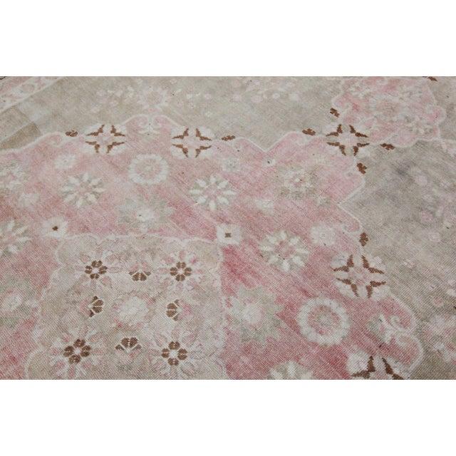 "Vintage Muted Turkish Oriental Rug Carpet - 10'11"" x 6'7"" - Image 7 of 10"