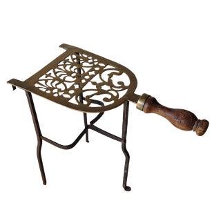 Antique Brass Standing Fire Place Trivet