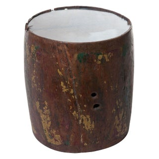 Cowhide Wooden Side Table I