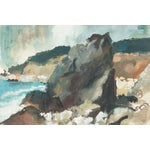Image of Vintage 1961 Pacific Palisades Painting