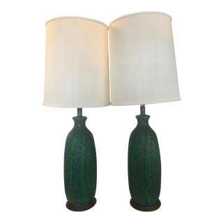 Vintage Quartite Creative MCMLXV Table Lamps - A Pair