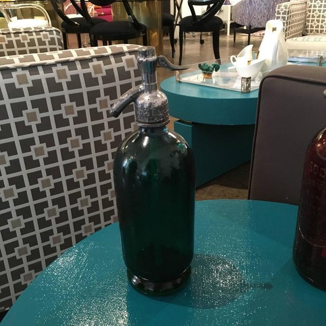 Vintage Argentinian Green, Red and Blue Seltzer Bottles - Image 2 of 7