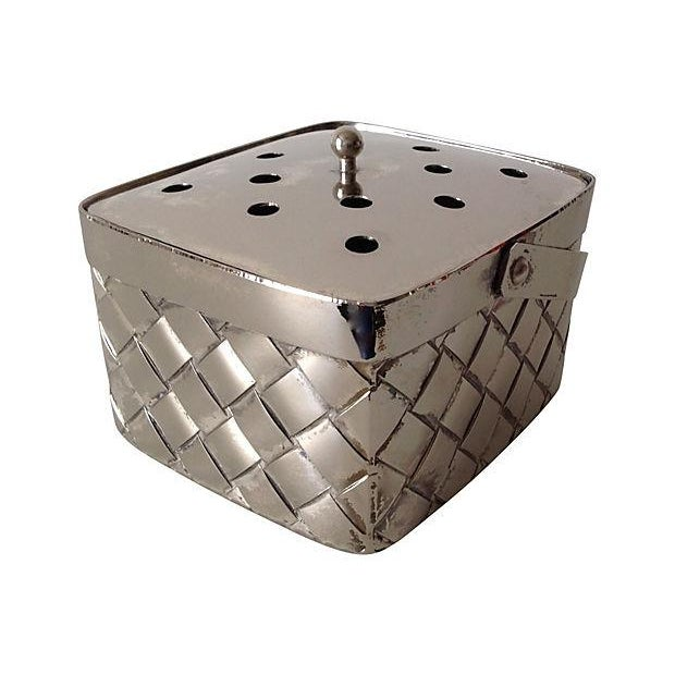 Silverplate Woven Basket Vase - Image 5 of 7
