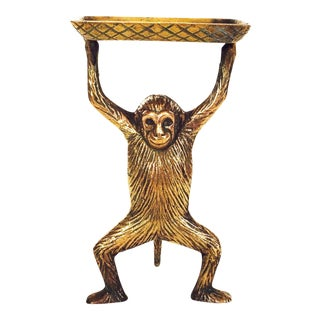 Vintage Brass Monkey Dish