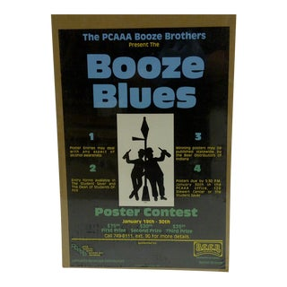 C. 1980 Booze Blues Poster Contest Poster
