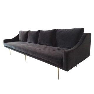 Organic Modernism Charcoal Velvet Sofa