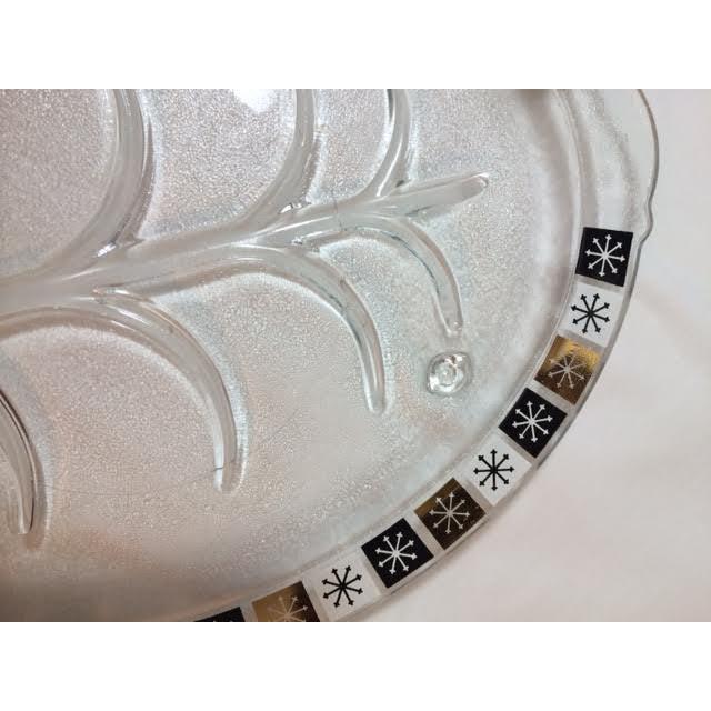 Vintage Inland Glass Atomic Starburst Meat Platter Chairish