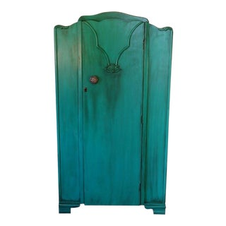 Armoire, Wardrobe, Closet, Bedroom Furniture, Painted Furniture, Vintage Furniture, Teal, Dresser, Nursery Furniture, Boho