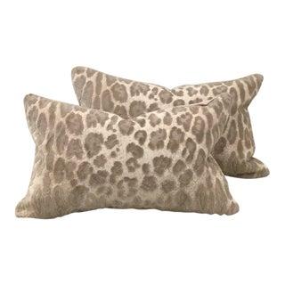 Cowtan & Tout Epingle Jaguar Velvet Lumbar Pillows - A Pair