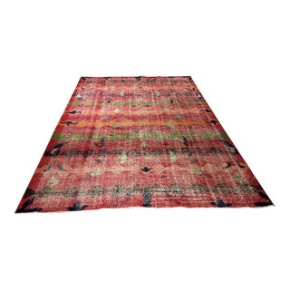"Bellwether Rugs Vintage Distressed Turkish Zeki Muren Rug - 6'8""x10'"