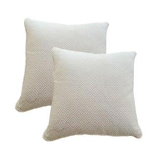 Oatmeal Linen Pillows - A Pair