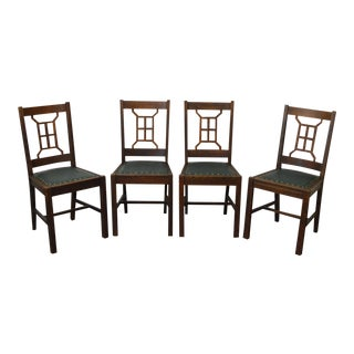 Antique Mission Style Michigan Chair Co. Dining Chairs - Set of 4