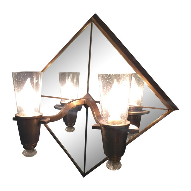 Double Arm Mirrored Sconce - New - Image 1 of 9