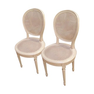 Medallion Cane Chairs - Set of 4