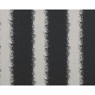 Painterly Stripe Onyx Fabric - 1 Yards