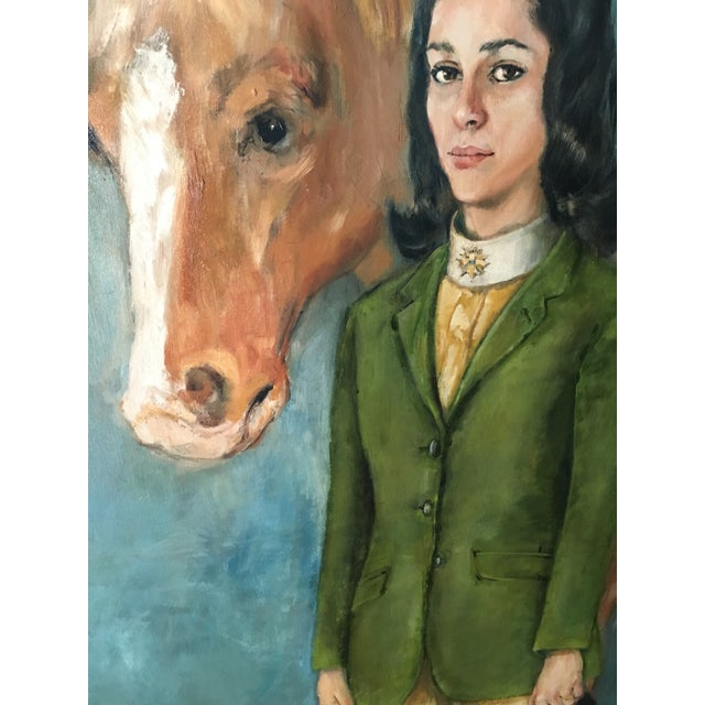 Equestrian Oil Painting - Image 6 of 6