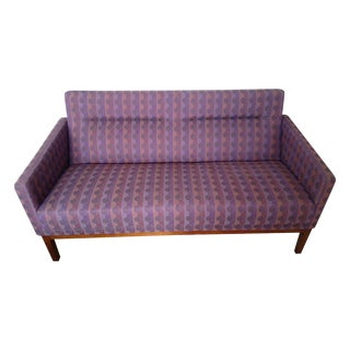 Patterned Steelcase Loveseat