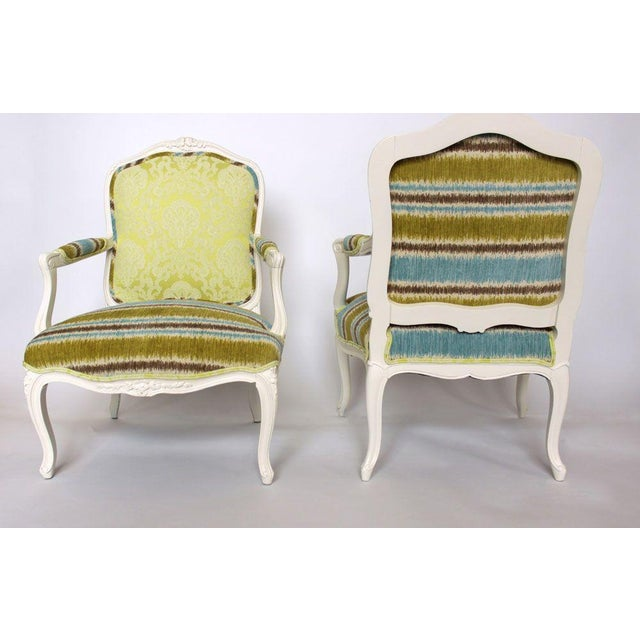 19th French Bergere Chairs - Pair - Image 4 of 6