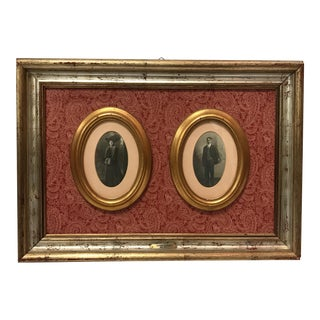 Antique Photographs in Custom Frame - A Pair