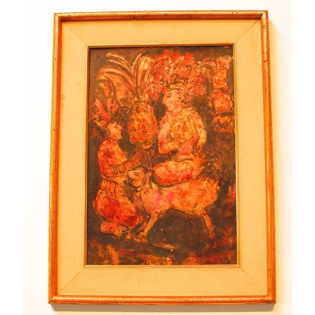 Image of Original Rubi Roth Indian Dancers Oil on Board