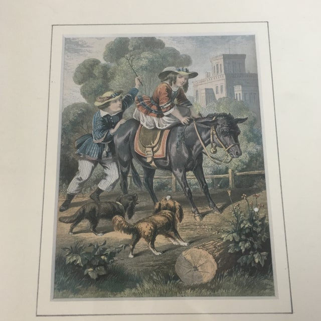 French Engravings Quot The Stubborn Mule Quot Amp Quot The Faithful Dog