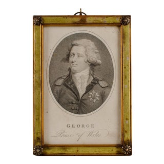 Framed Portrait of King George III from The Lady's Magazine 1792