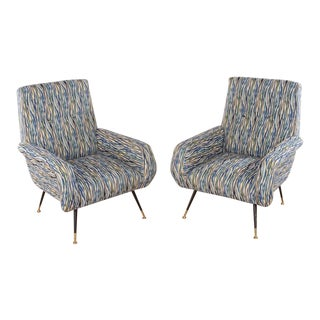 PAIR OF ITALIAN CLUB CHAIRS