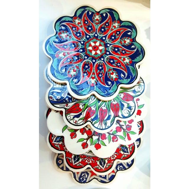 Turkish Tile Trivets - Set of 5 - Image 2 of 7