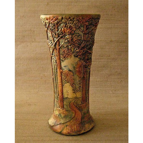 Antique Weller Woodland Forest Vase - Image 2 of 3