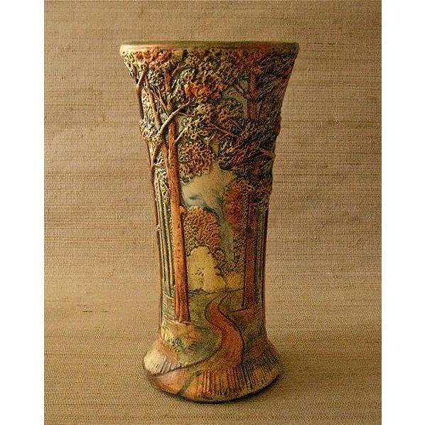 Image of Antique Weller Woodland Forest Vase