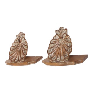 Carved Wood Seashell Brackets