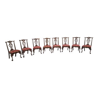 Henredon Plaid Dining Chairs - Set of 8