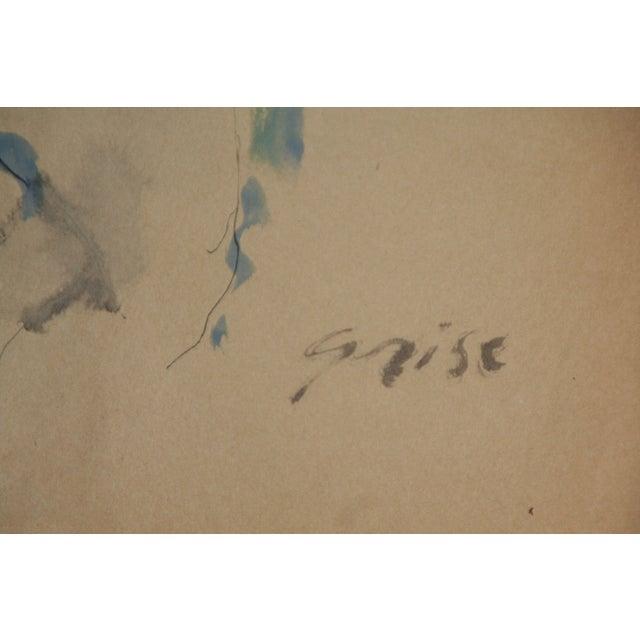 Hendrik Grise Orignal Watercolor Nude - Image 4 of 5