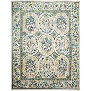 "Hand-Knotted Wool Rug - 8'1""x10'6"""