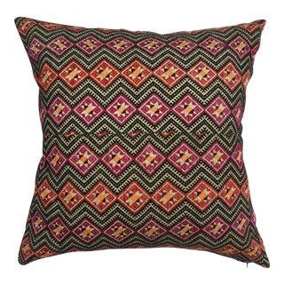 Antique Dragon Back Wedding Quilt Pillow