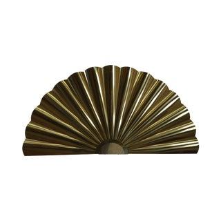 Curtis Jere Brass Fan Sculpture
