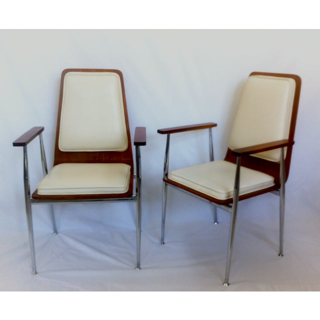 Mid-Century Modern Plywood Arm Chairs - Image 2 of 3