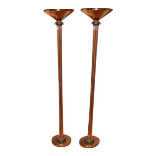 Copper Floor Lamps - Pair
