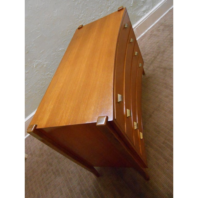 Williamsport Mid Century Reverse Bow Commode Chest - Image 4 of 10