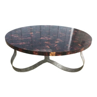 Vintage Tortoise Shell & Silver Gilt Coffee Table